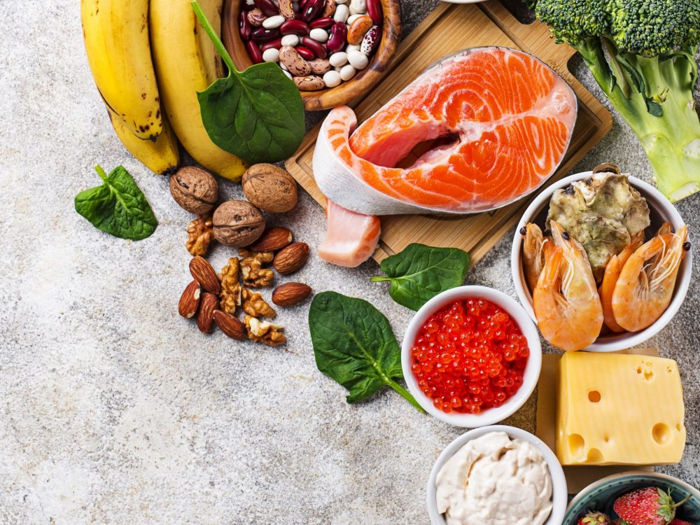 Healthy products, natural  sources of hormone dopamine